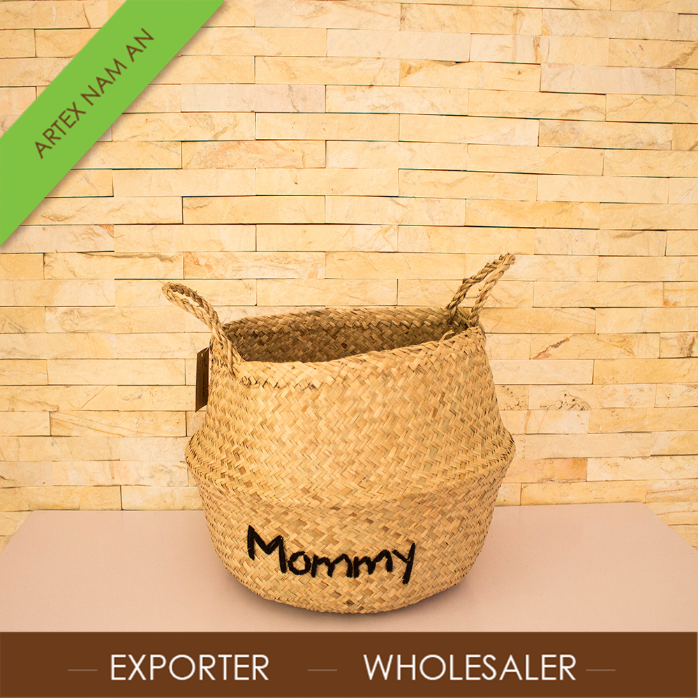 Best Wholesale seagrass rice basket, foldable seagrass basket ARTEX NAM AN