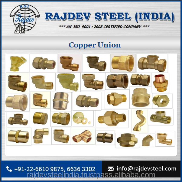 New Arrival Good Quality Copper Union at Very Cheap Rate