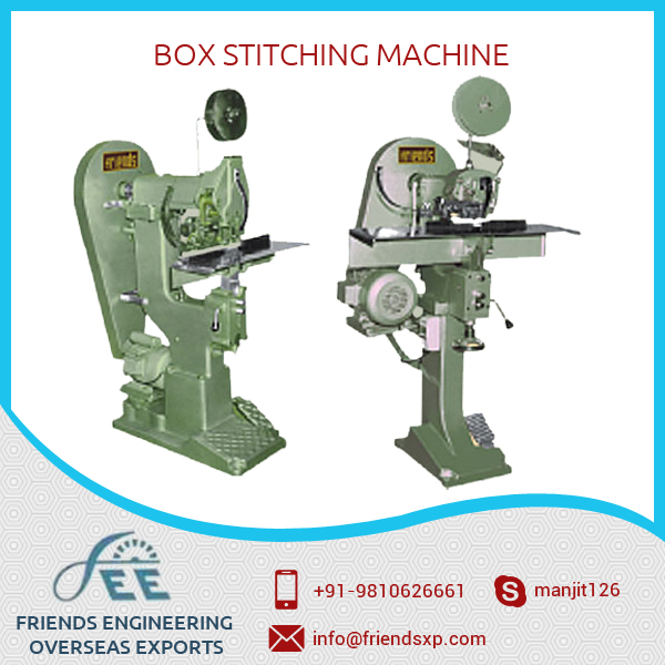 Standardized and Interchangeable Box Stitching Machine at Low Price