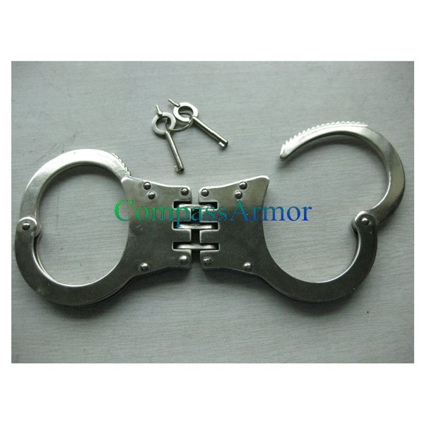 PSHF-01 Hot Sale Cheap Plate Type Steel Engraved Handcuff