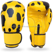 Jaguar skin printed boxing gloves with your brand logos