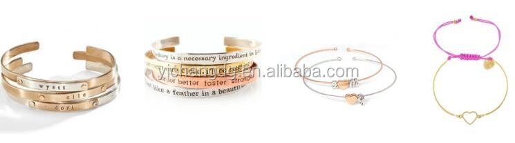 New Design Stainless Steel Women's Inspirational Thin Metal Bangle Bracelet Never Give Up