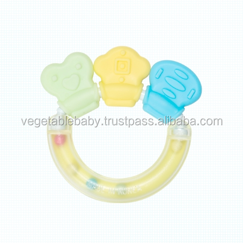 Eco-friendly Baby Toy Cornstarch Rattle & Teether Spin