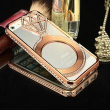 Christmas gift Luxury Custom Design PC Metal Hard Bling Mobile Phone Case For Iphone 5s Iphone6 Iphone6s Mobile phones