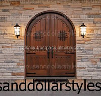 Stylist And Original Vintage Old World European Antique Interior Wooden Solid Wood Exterior Front Entry Doors/Wholesale Ratedoor