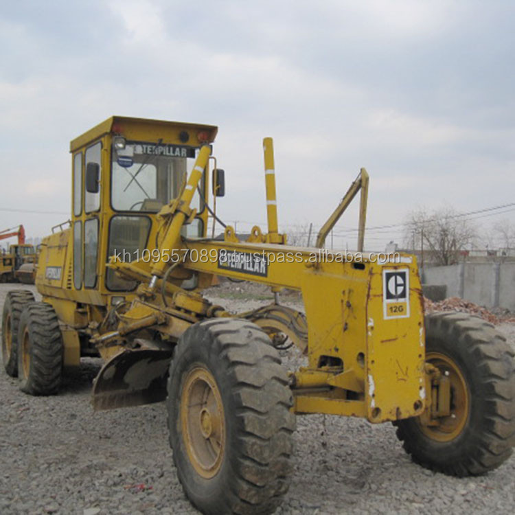 Japan caterpillar 12G motor grader for sale, used cat 12g motor grader in Shanghai