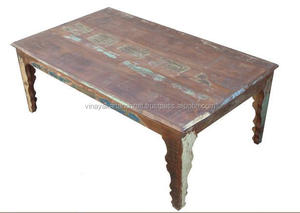 INDIA VILLAGE RECYCLE WOOD DINING TABLE