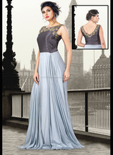 Latest design formal ladies long evening party wear gown of Silk