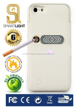 White case for iPhone 5/5S with ecological cigarette lighter