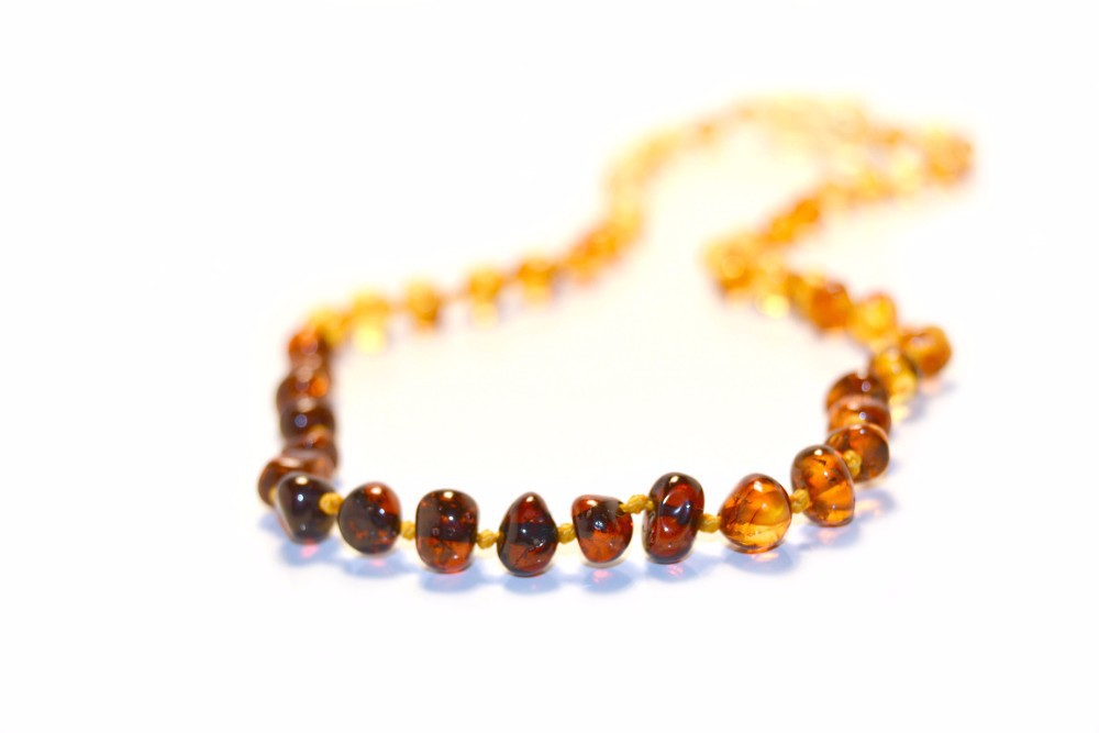 Baltic Amber Baby Teething Necklaces, Baroque Style, Various Color Choices, Wholesale prices based on Quantities