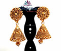 2015 GOLD PLATED JHUMKA EARRINGS-WHOLESALE SOUTH INDIAN GOLD PLATED JHUMKA EARRINGS-PEARL JHUMKA EARRINGS ONLINE WHOLESALE