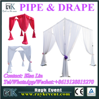 2016 New products pipe and drape stands wholesale pipe and drape from China factory
