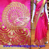 Unique silk computer designed saree