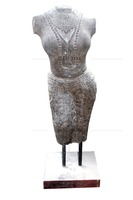 Female Figure Statue on Stand for Home Decor