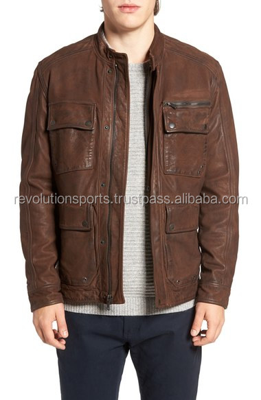 2017 Whole Sale Men's Leather jackets with 100% cowhide Leather best seller collection of 2017