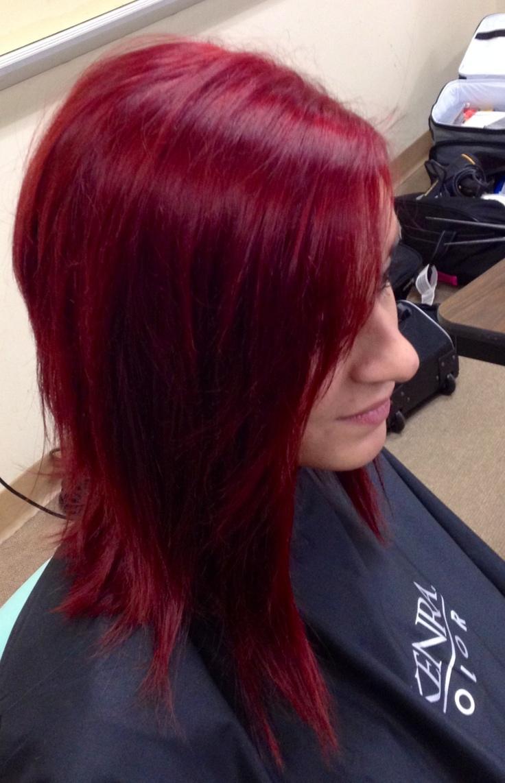 Как сделать красную краску для волос 515