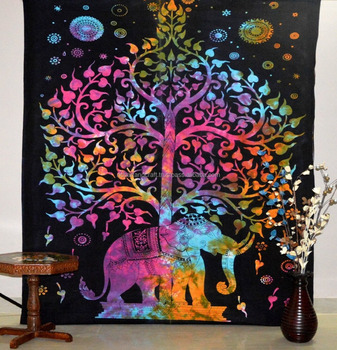 Hippie Dorm Tapestries Tree Of Life Elephant Wall Hanging Tapestry Bohemian Wall Tapestry Bedding Beach Blanket