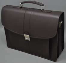 100% Genuine Cow Leather Mens Briefcase laptop bag