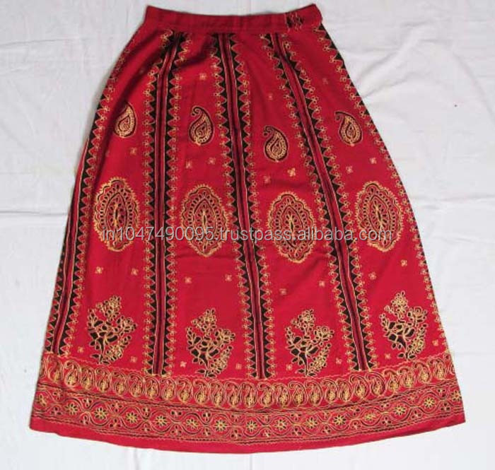 Indian Vintage cotton banjara short skirt 2016