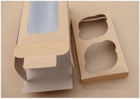 Cup Cake Boxes Kraft paper Window