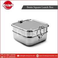 Sturdy and Easy Cleanable Stainless Steel Bento Square Lunch Box