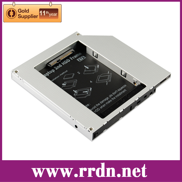 New 9.5mm Universal SATA 2nd HDD SSD Hard Drive Caddy for CD DVD Optical-Bay