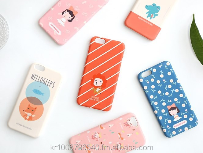 Cute character designed plastic mobile phone case