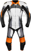 2 Piece Motorcycle Racing Leathers Suit - Multicolour