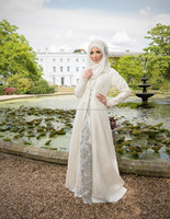 EXCLUSIVE Stunning White Bridal Abaya With Very Beautiful Hand embroidery On It Stone,Pearls,Crystal