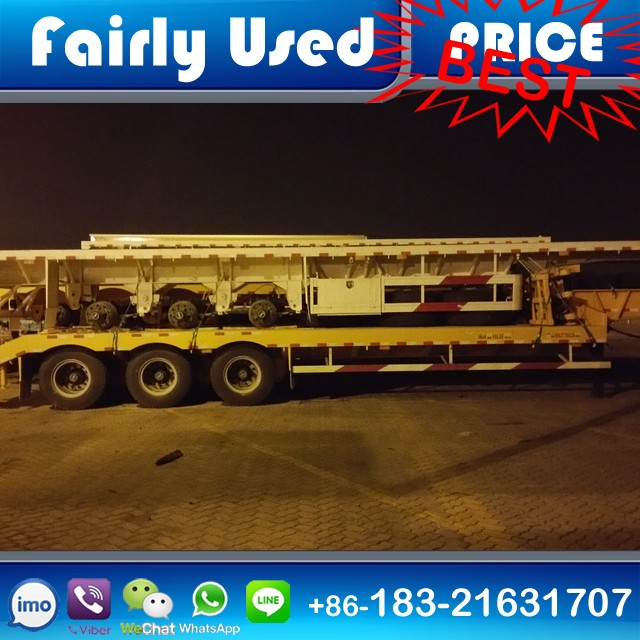 Used low boy trailer, low bed semi-trailer with hydraulic ramp, used lowboy semi trailers for sale