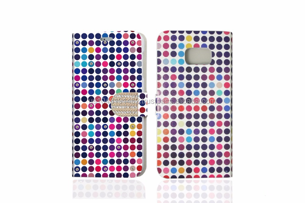 Bling Series Diamond Book Style Phone Case With Card Holder For Samsung Note 5