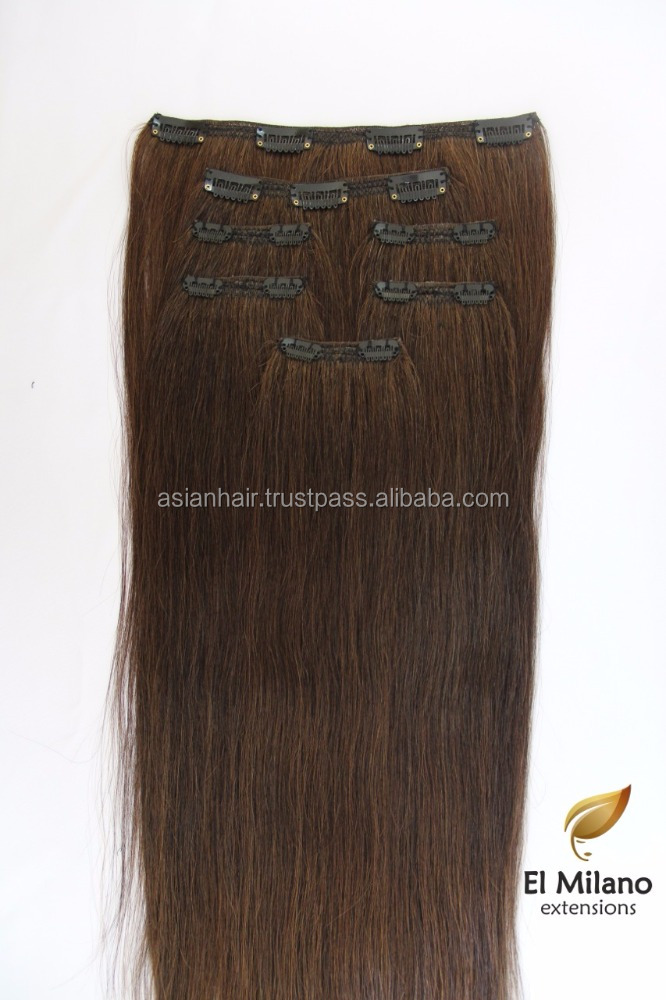 Alibaba Website Top Grade Best Quality Double Drawn 120g 150g Remy Virgin Human Clip in Hair Extensions