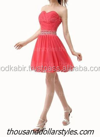 Brand New Collection Women Sweetheart Pleated Beaded Rhinestone Sequin Short Bridesmaid Dress Evening Dresses