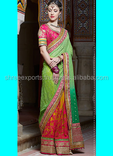 Latest Multi Color Pure Banarasi Viscose Saree