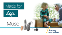 CE approved new starkey bte hearing aid muse i1000 RIC AP wireless bte