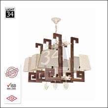 Home Decoration Hanging Light Interior Pendant Light Quality Wood Chandelier