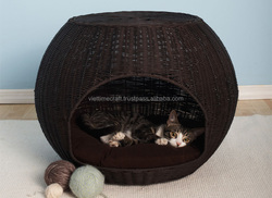 Wholesale pet house, hand-woven cat house, rattan dog house
