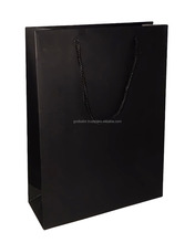 Pure decorative shining black colour large size Paper Bags Solid Black 8 inch x 11 inch x 3 inch .