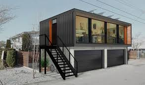 Fast Installation Prefab container housing for hotel, office, dormitary, school, motel, etc.house with chassis especially