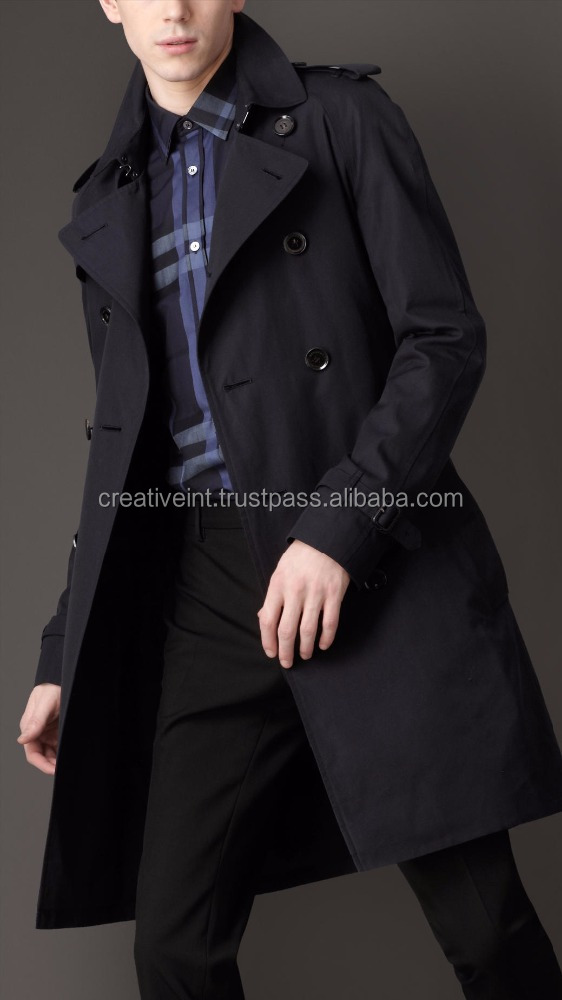 2016 latest european style fashion new business men long coat/trench coat/men coat winter