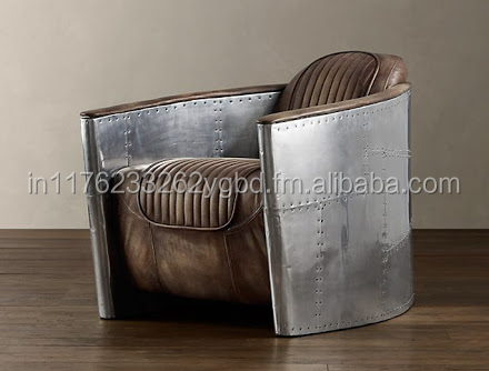 Aviator Single Seat Goat Leather Sofa