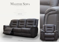 Leather Reclining Sofa #9019