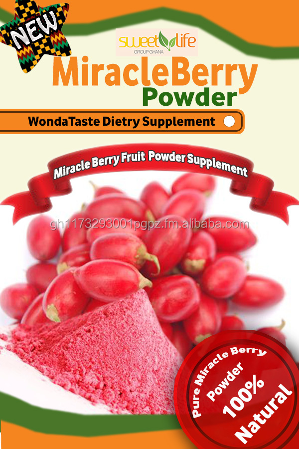 Freeze dried miracle Berry fruit Powder