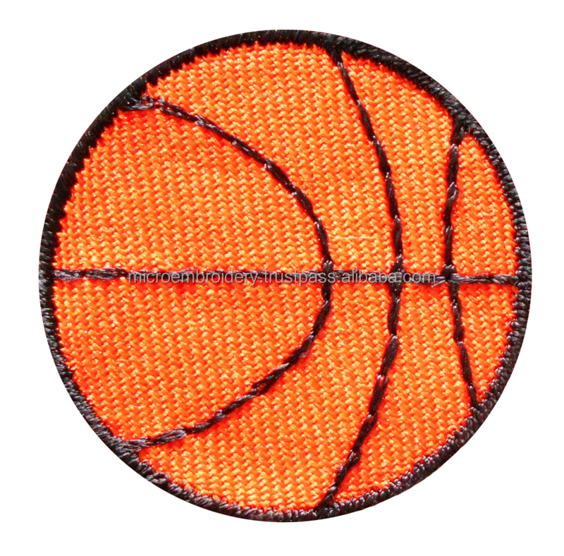 The embroidery sport patches for custom and garment as per OEM from Thailand