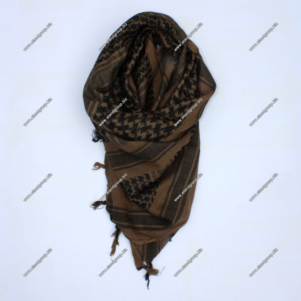 Shemagh Arab scarf Chequered Mud/Brown | shemagh scarf | Desert Scarf