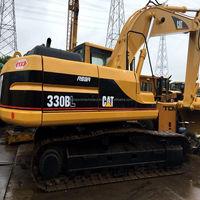 Heavy Construction Machine Used 30 ton caterpillar Crawler Excavator Original, Used Excavator 330B On Sale