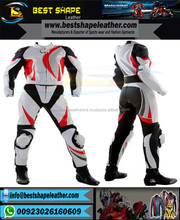 Custom Branding logos leather motorbike racing suits two piece for men