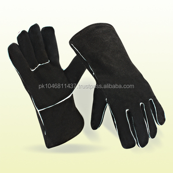 Long Leather Welding Hand Gloves