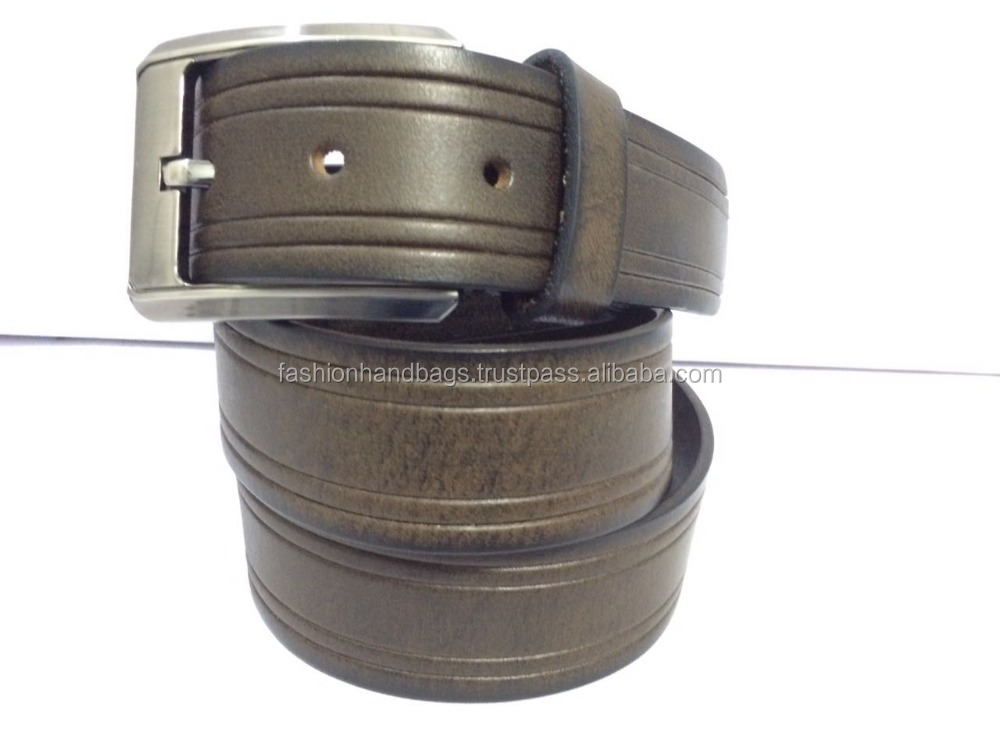 Genuine Leather Belt With Alloy Buckle