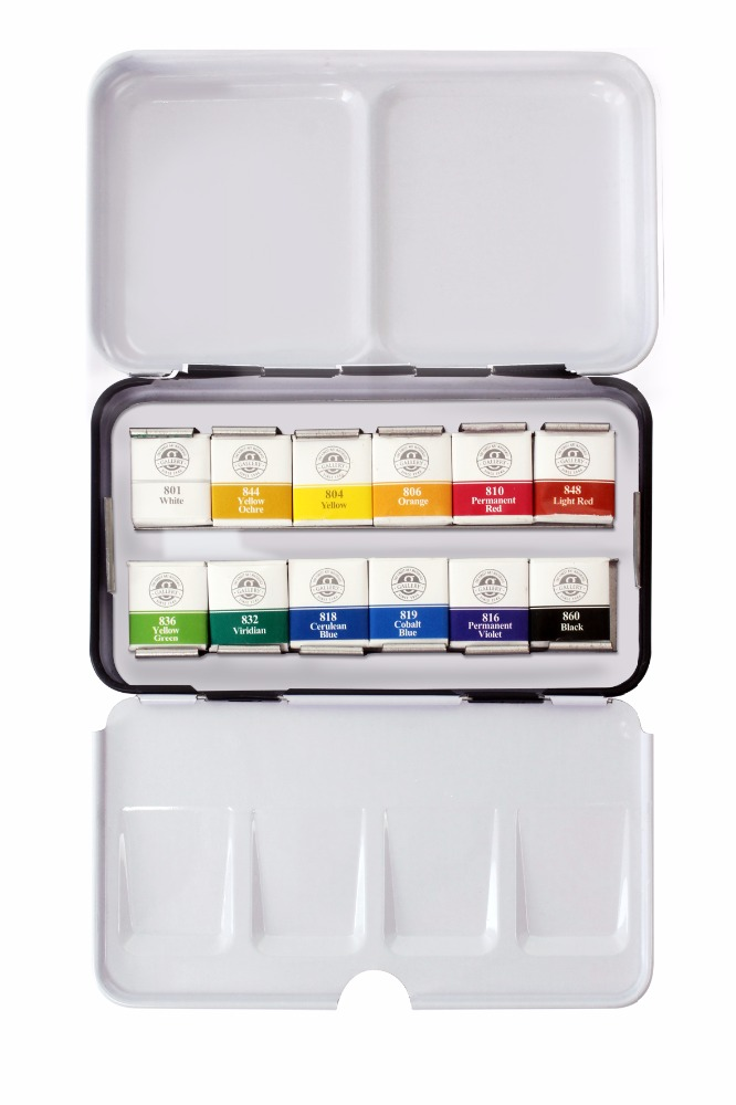 Solid Watercolor Paint with Pan set for professional artists